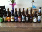 A selection of beers bought at De Bierkoning late July