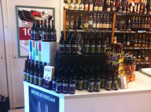 Bax Bier Display at the Mitra on the Vismarkt
