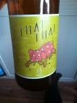 Oedipus Thai Thai. Galanga, Orangepeel, Korianderseeds, Lemongrass, Chili Peppers. A very postmodern, crosscultural eclectic beer.