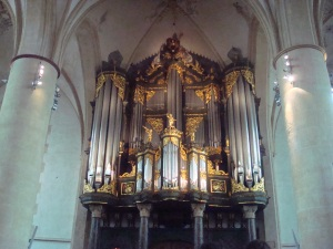 The Martinikerk's organ. This year the proceeds of the Olle Grieze Beer (by Ramses and Groninger brewers) went to restoring the organ